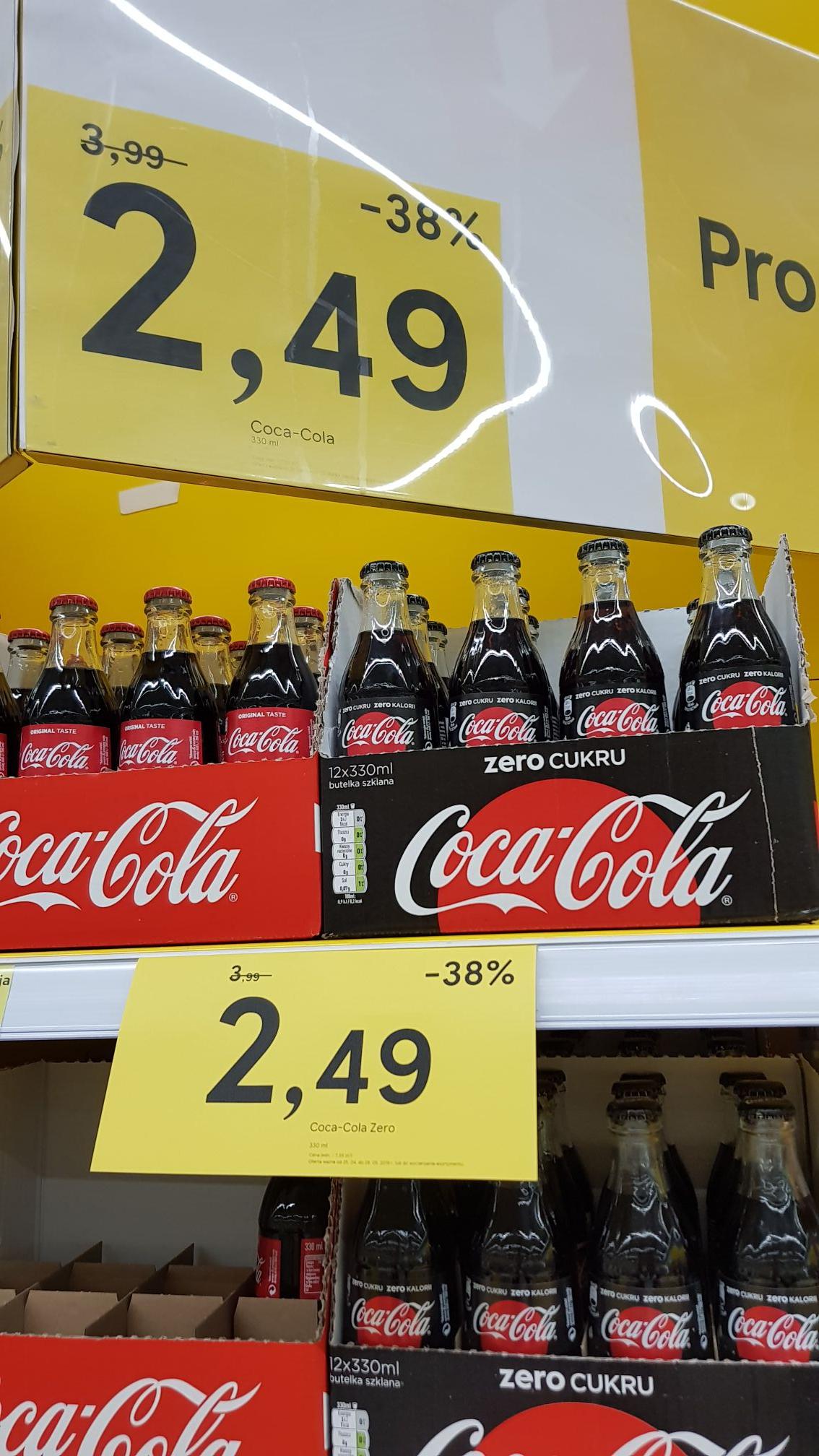 Coca-Cola szklana butelka