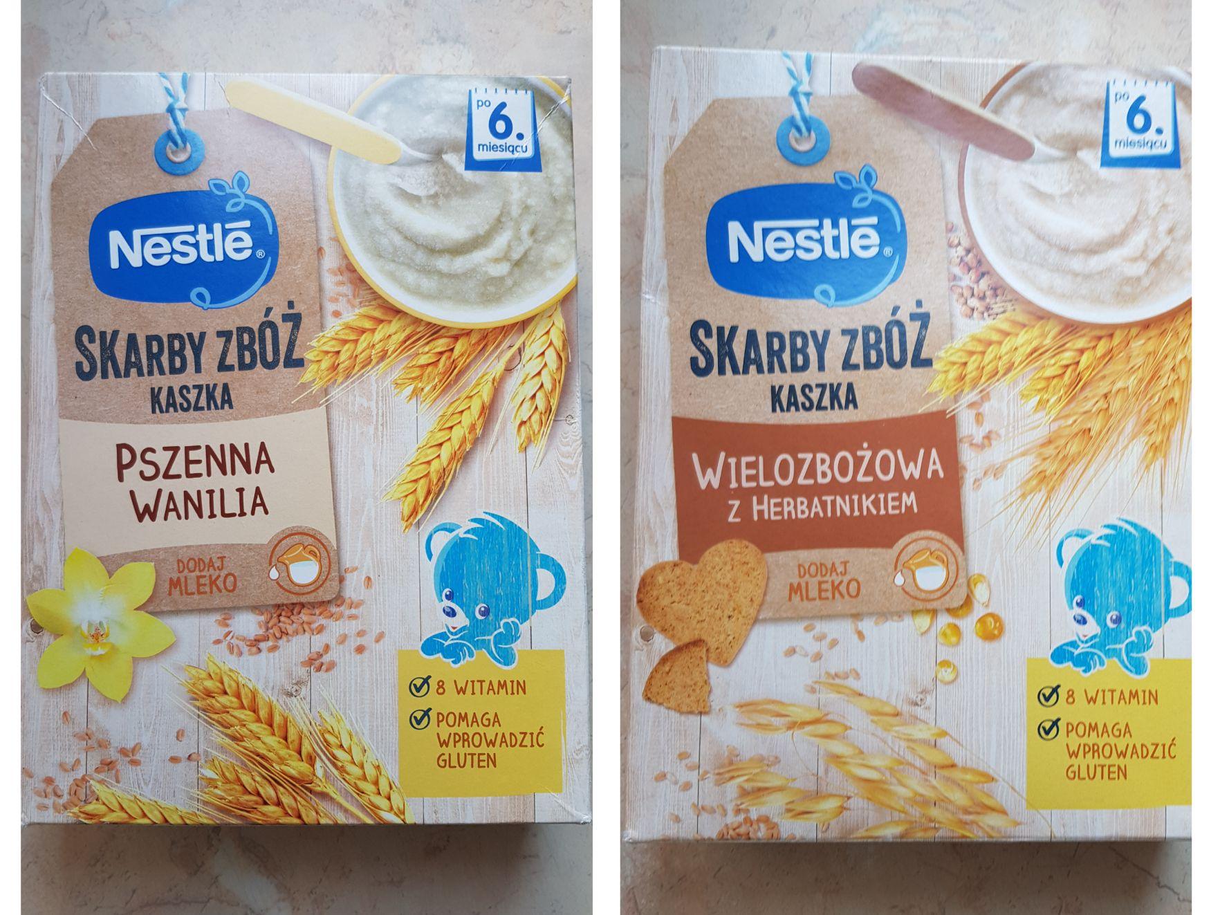 Kaszka Nestle Skarby Zbóż różne rodzaje