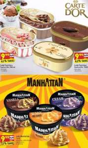 Lody Carte d'Or 0,9-1L i Manhattan 1,4L @ Biedronka