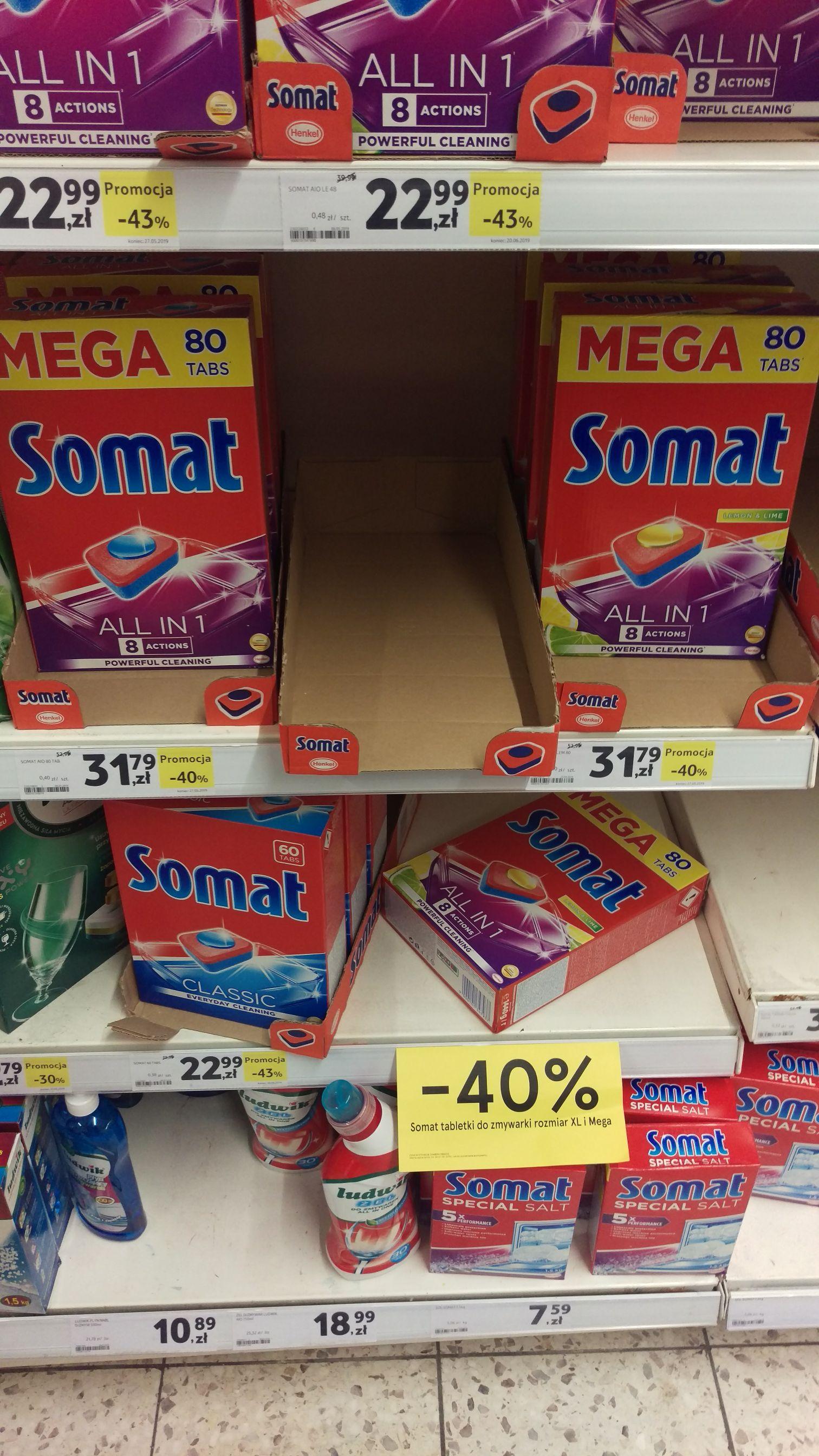Tabletki do zmywarki paczki Mega i XL -40%