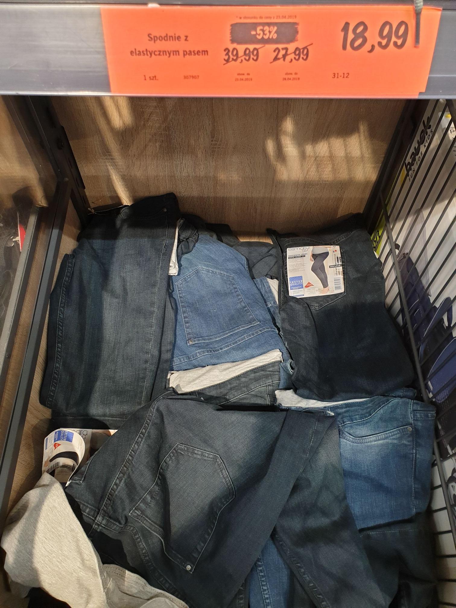 LIDL Spodnie ciążowe jeans Wrocław Parafialna