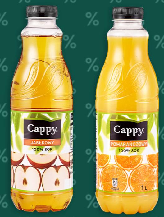 Sok pomarańczowy i jabłkowy Cappy 1l @Carrefour