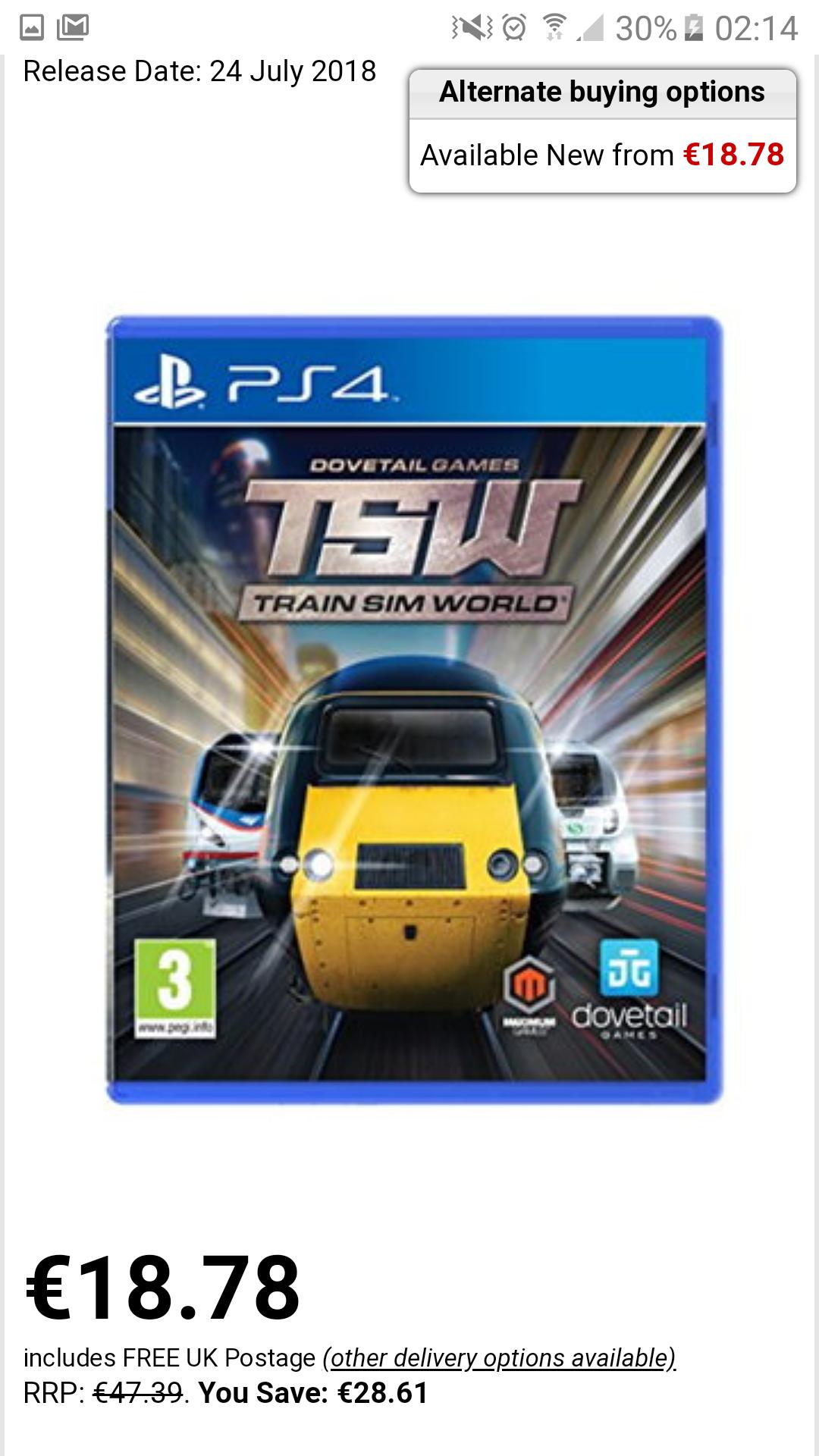 Train Sim Word PS4  cena z wysyłka