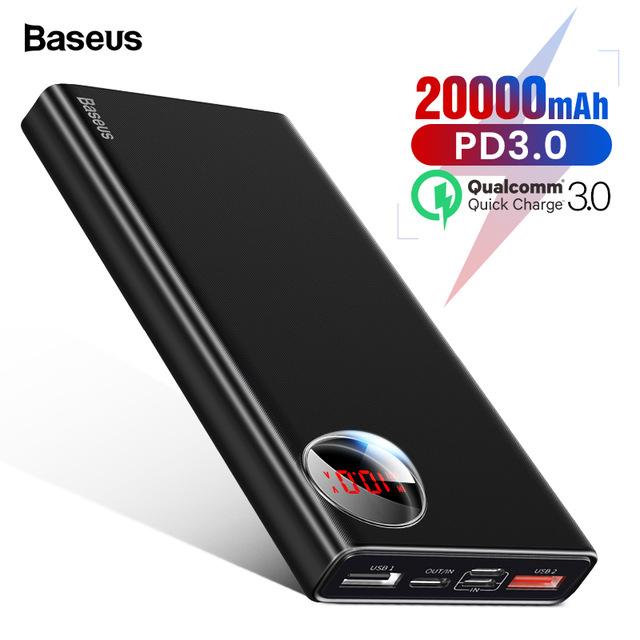 BASEUS MULIGHT POWERBANK 20000 mAh Z WYŚWIETLACZEM QC 3.0