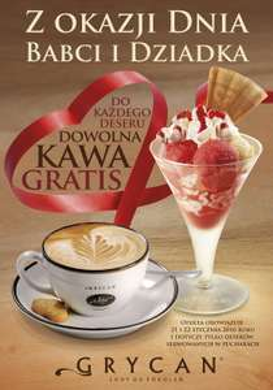 Do każdego deseru, kawa GRATIS @ Grycan