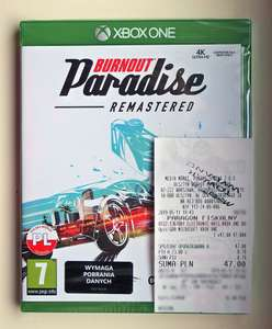 Burnout Paradise Remastered (Xbox One, Playstation 4) - MediaMarkt, Olsztyn