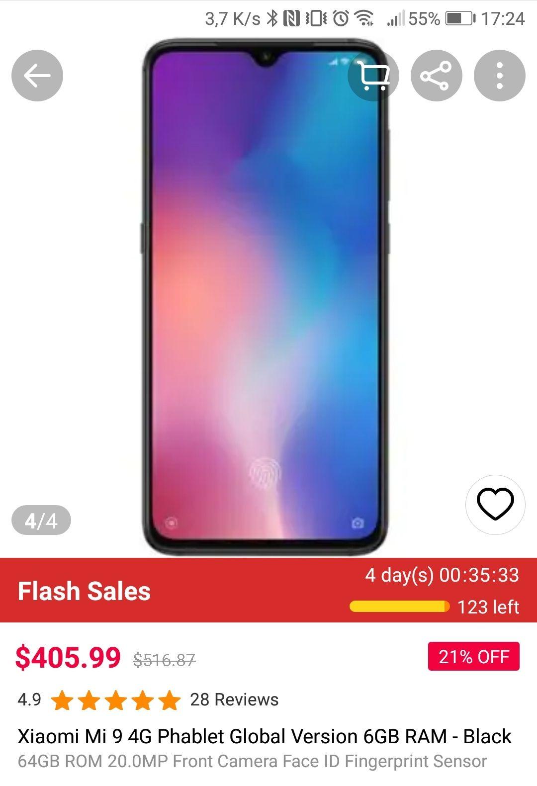 Xiaomi Mi 9 6/64 z Gearbest za $405,99
