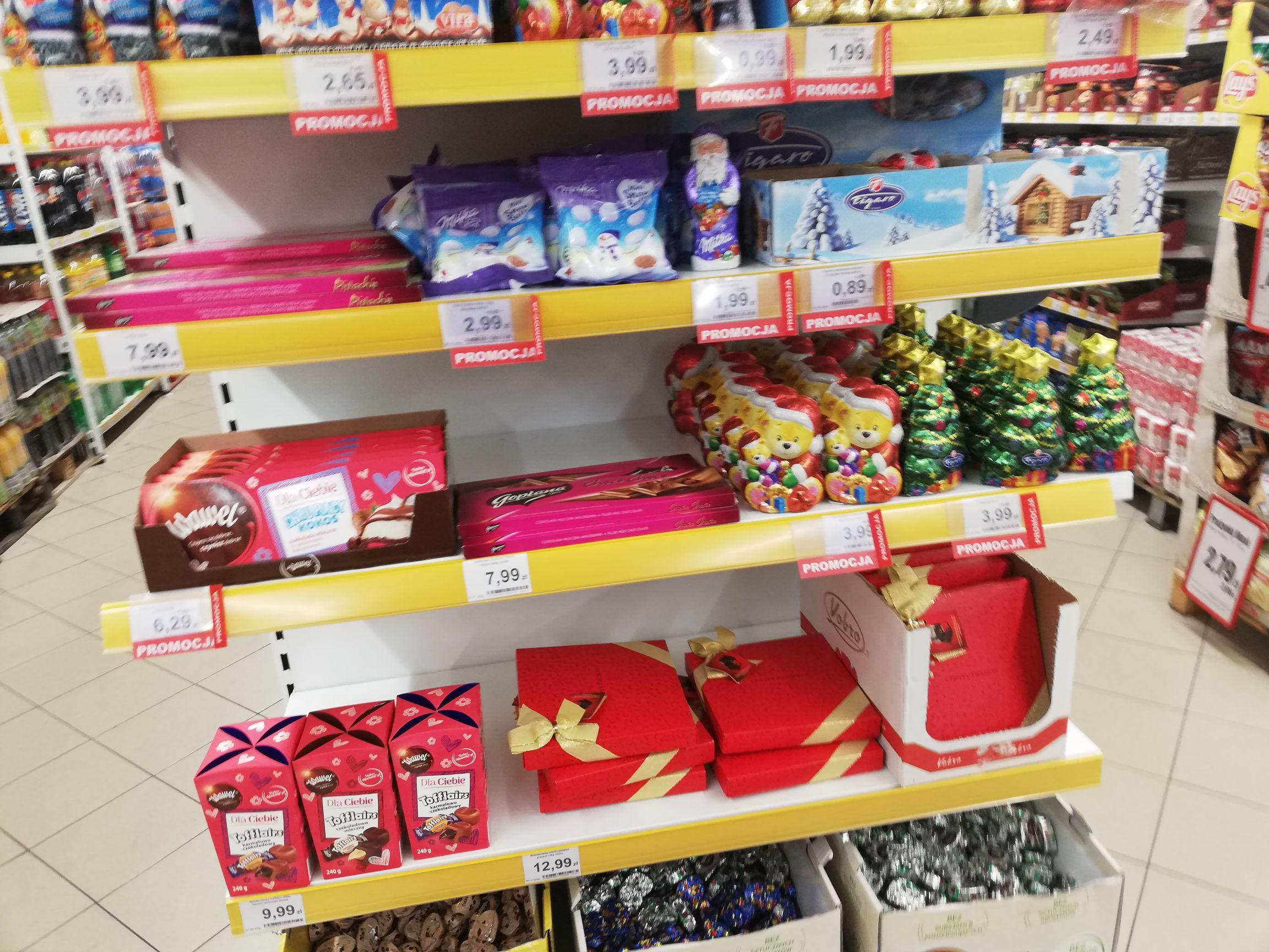 Przecena świątecznych słodyczy