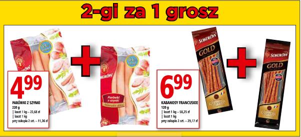 Drugi produkt za 1gr na parówki i kabanosy Sokołów @ Simply Market