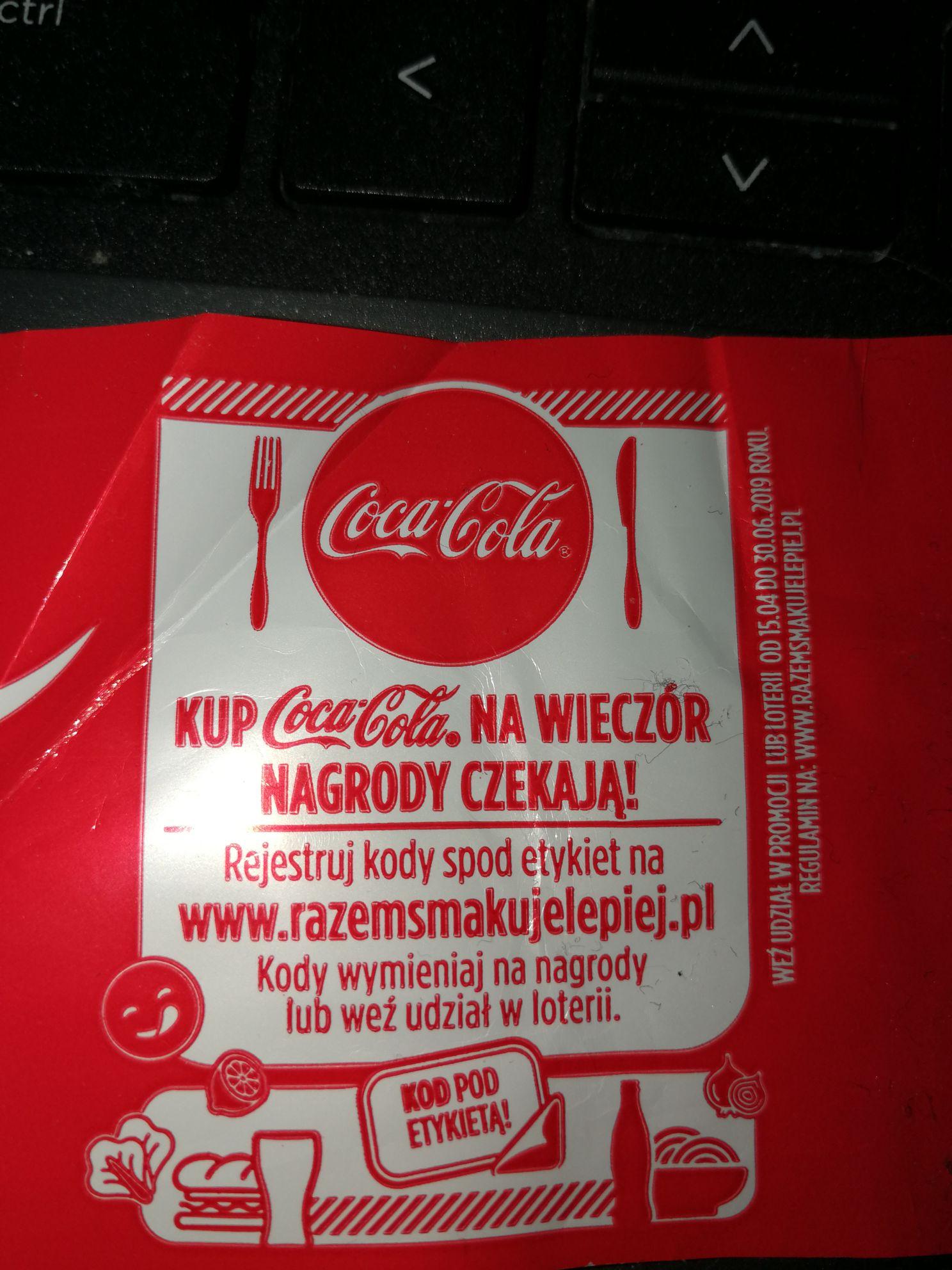 Loteria Coca-Cola kupony multikino, uber eats, duka