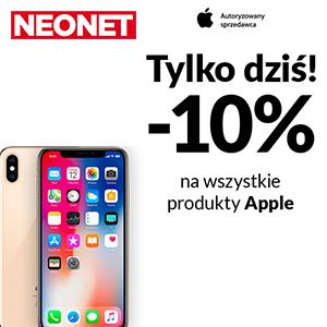 Tylko dziś -10% na wszystkie produkty Apple!