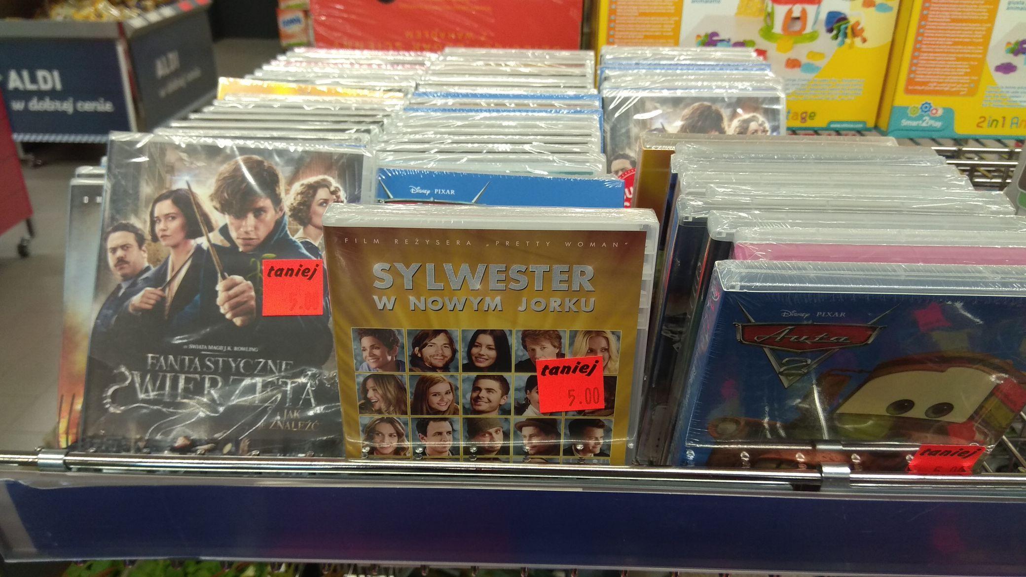 Promocja na filmy DVD w Aldi - Chorzów