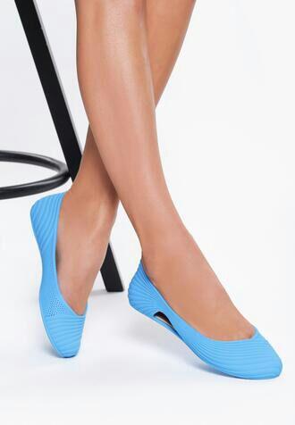 Niebieskie Neonowe Baleriny Gina