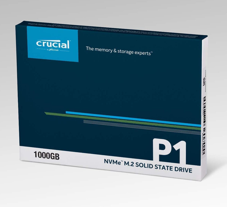 Crucial P1 NVMe PCIe M.2 SSD. 1TB. Amazon.de