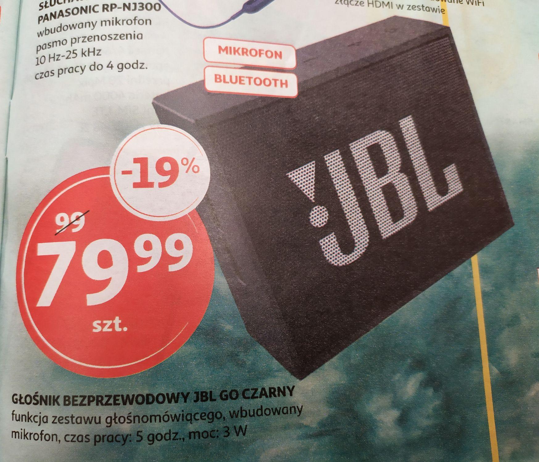 Głośnik bezprzewodowy JBL GO Czarny Auchan