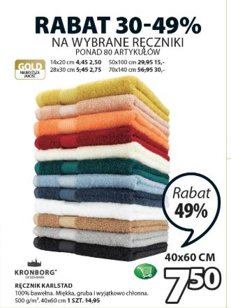 Wybrane ręczniki do -49% jysk.pl