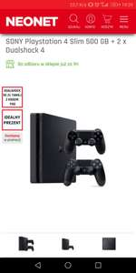 SONY Playstation 4 Slim 500 GB + 2 x Dualshock 4