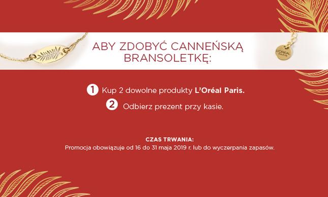 Rossmann: Kup 2 produkty L'oreal Paris i odbierz bransoletkę Cannes GRATIS