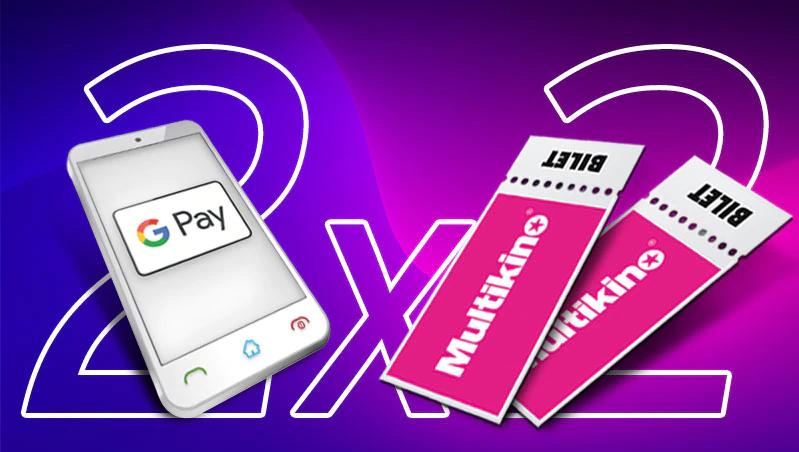 2 za 2! Odbierz dwa bilety do Multikina za 2 transakcje kartą Citi z Google Pay.