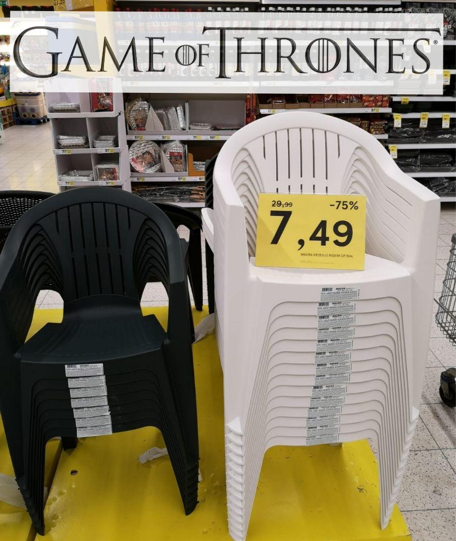 Krzesło ogrodowe Tesco Rzeszów 7,49 dwa kolory