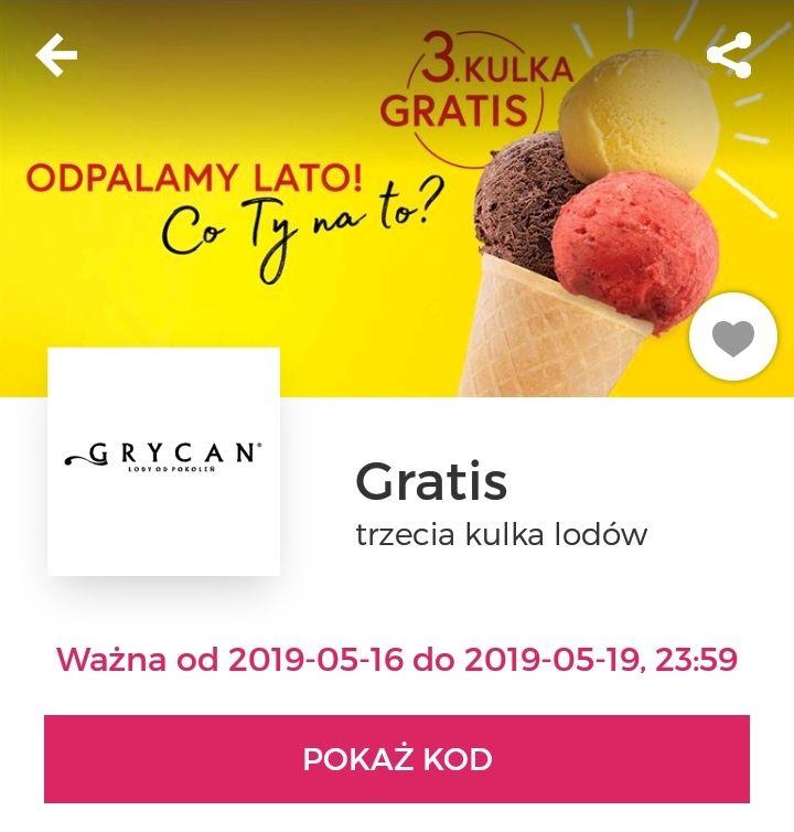 Trzecia kulka lodów gratis z aplikacją Goodie @ Grycan