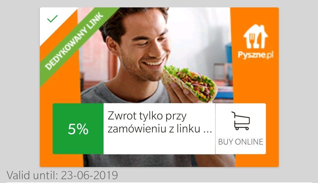 mOkazje Cashback 5% na pyszne.pl od mBanku
