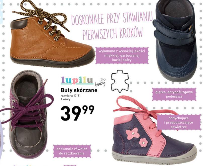 Skórzane buciki dla niemowlaków za 39,99zł @ Lidl