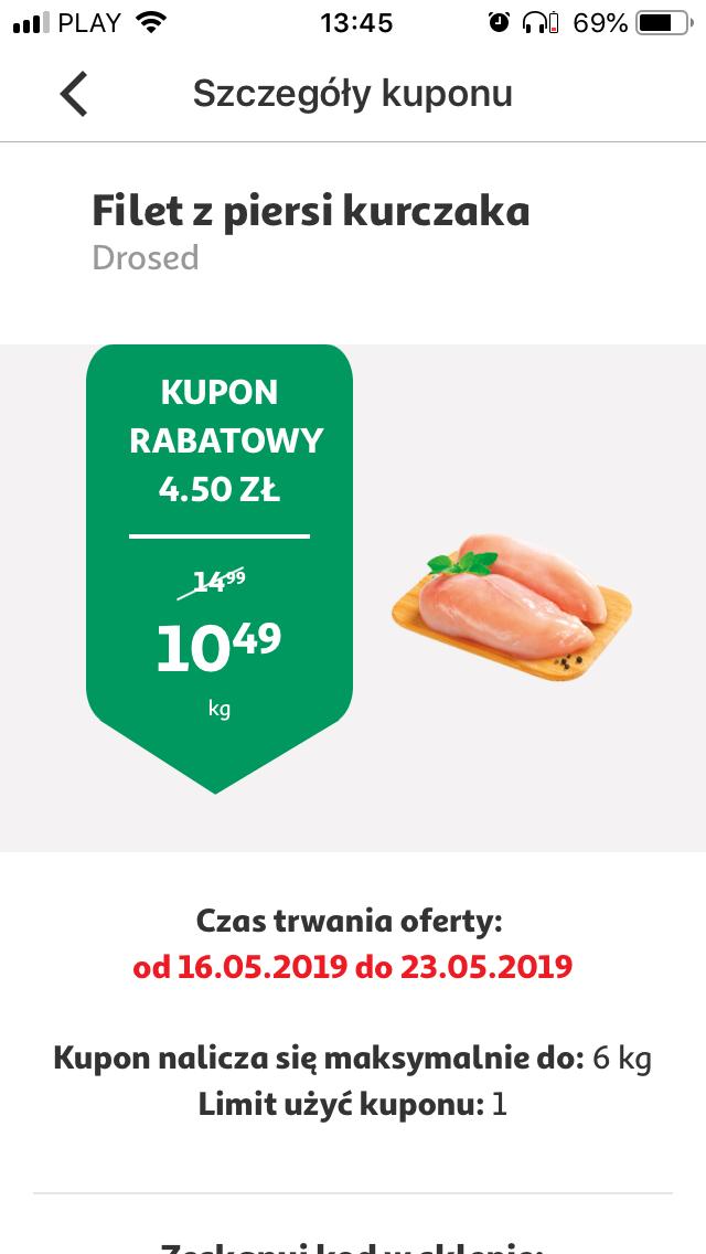 Filet z piersi kurczaka w Auchan z aplikacją. 16-23.05 max 6kg na paragon
