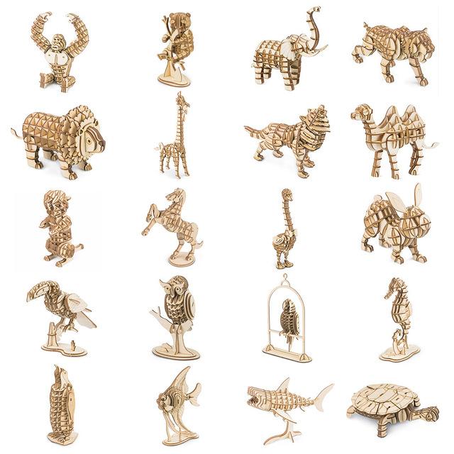 Drewniane puzzle Robotime, wiele wzorów (możliwe 3 zł z cashback epn 90%) @ aliexpress