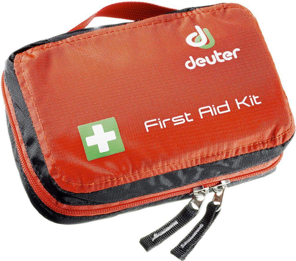 Deuter Apteczka turystyczna First Aid Kit (3943116-9002), a także latarka czołowa Ledlenser