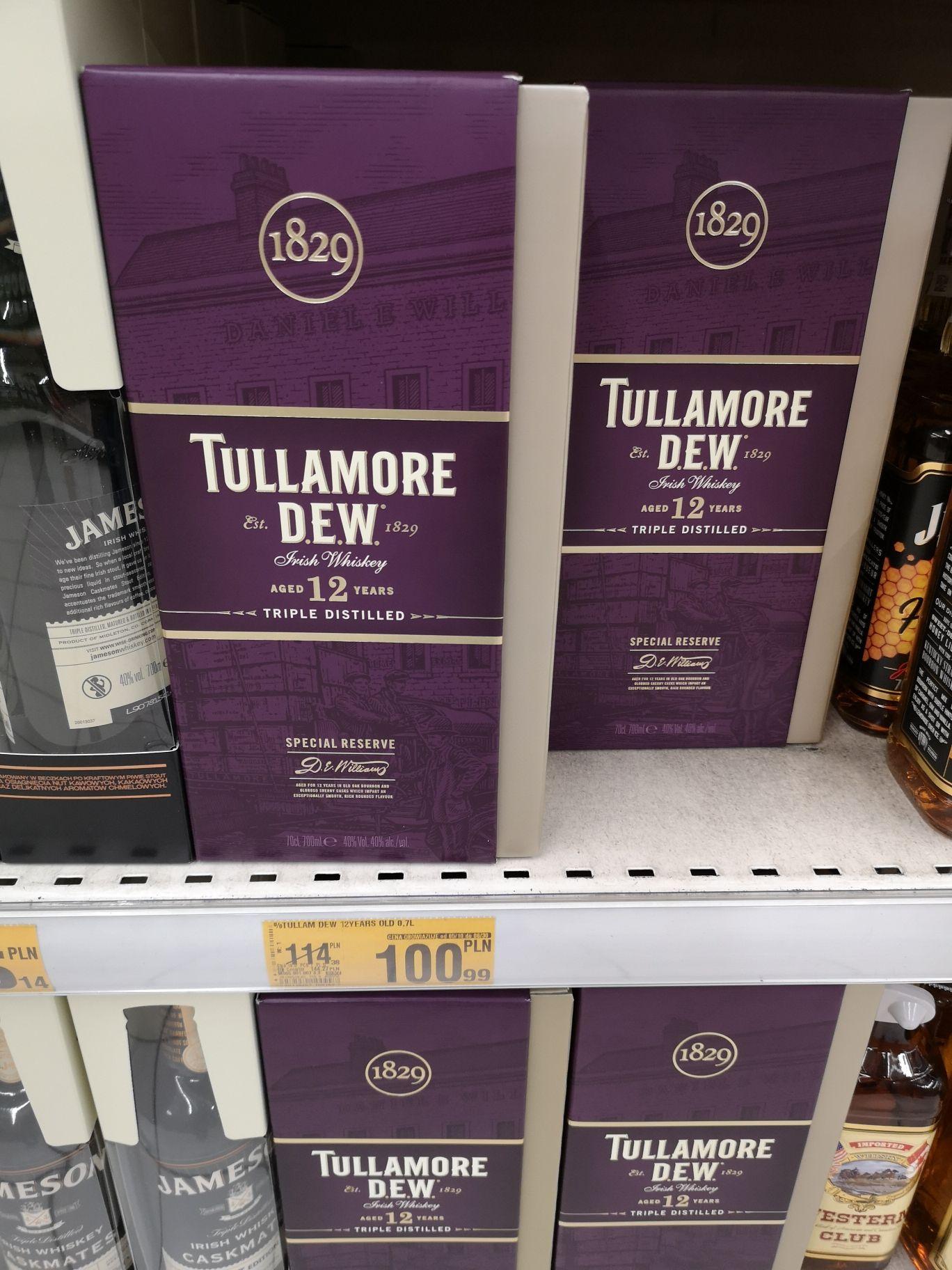 Irlandzkie Whiskey Tullamore Dew 12.  Auchan