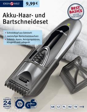 Akumulatorowy trymer maszynka do brody włosów IDEENWELT ROSSMANN stacjonarnie i online