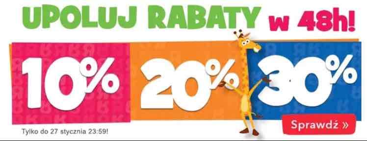 Upoluj rabaty w 48h! Rabaty -30%, -20%, -10% @ Toys'rus