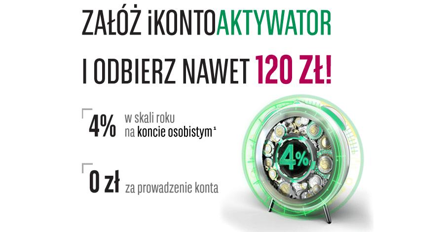 120 zł za założenie konta w BNP Paribas