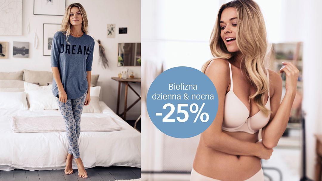 -25% na bieliznę oraz druga bluza męska za połowę ceny @ Cubus