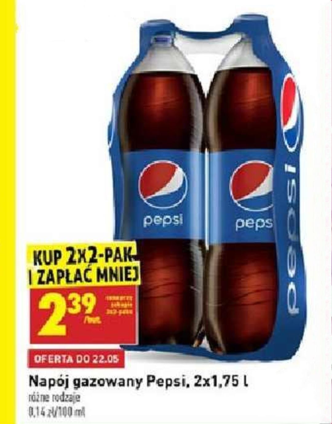 2-pak Pepsi 2x1,75 w cenie 1,37/L