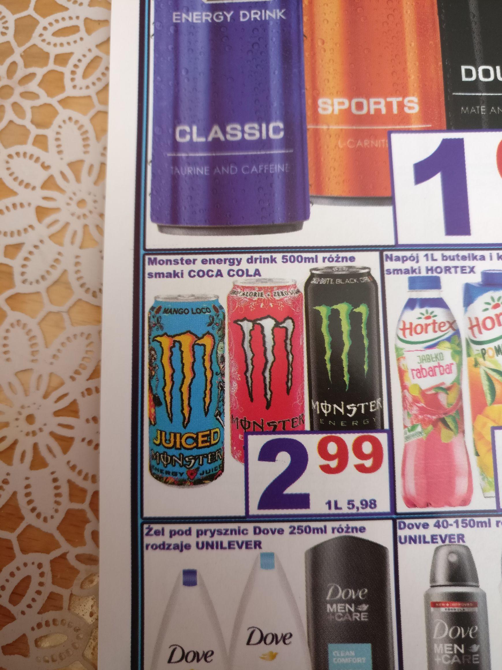 Energy monster drink wszystkie smaki