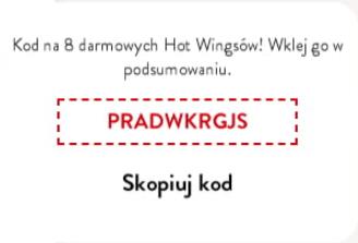 Darmowe 8 HW w KFC przy zamówieniu w dostawie