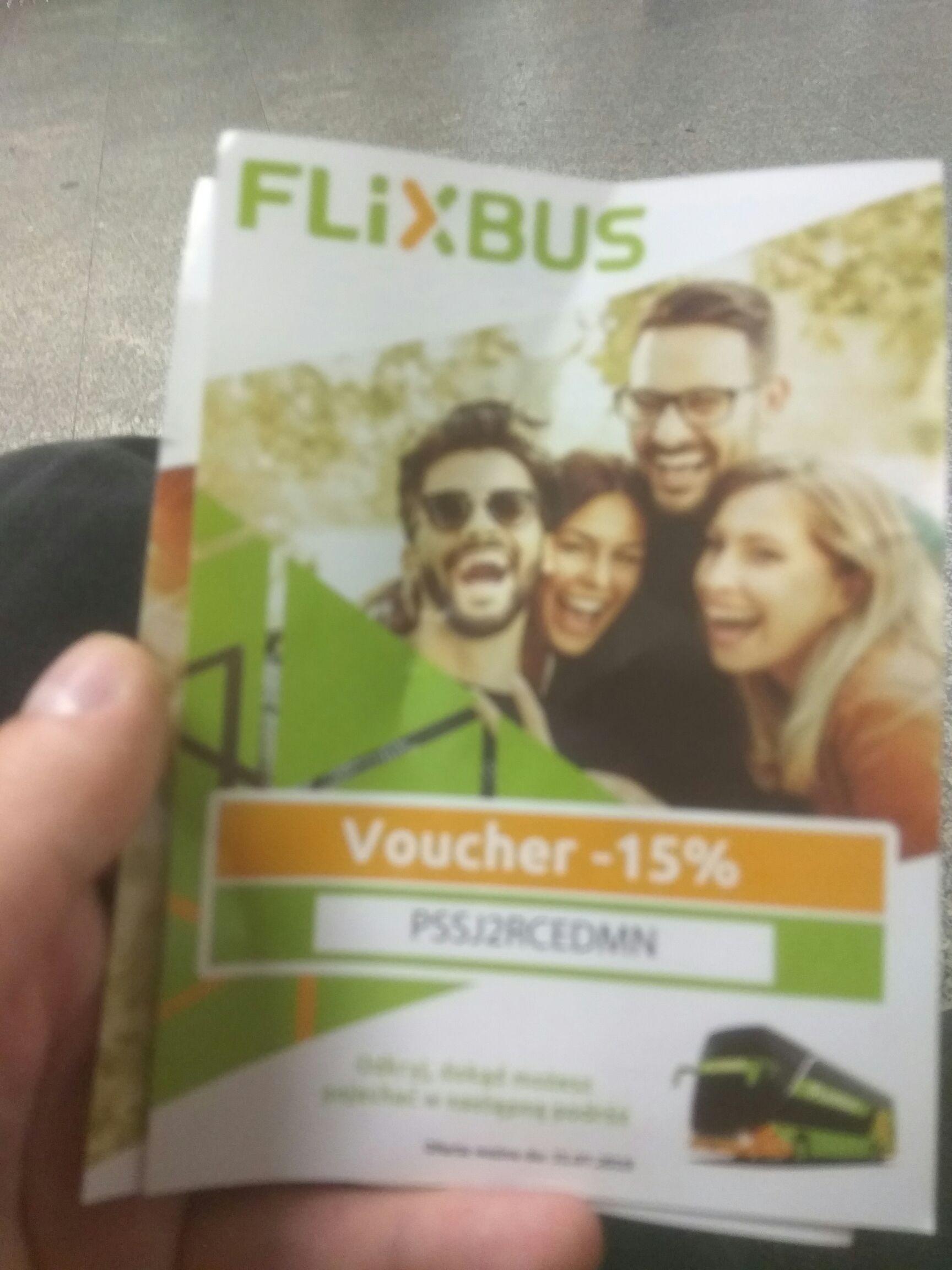 Voucher - 15% na flixbus metro centrum Warszawa