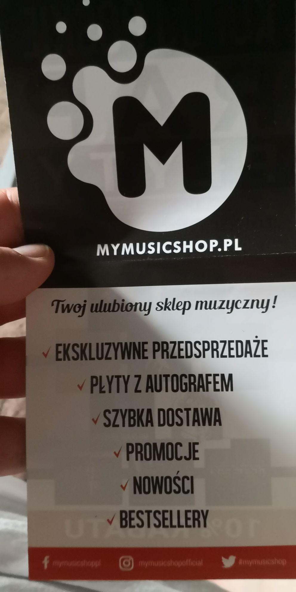 Jednorazowy kod na mymusicshop.pl - 10%