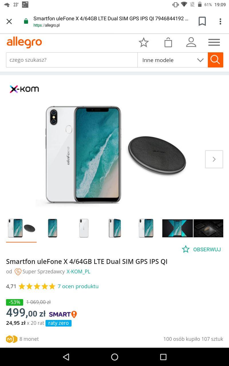 Smartfon uleFone 4/64 SD425