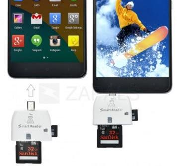 Darmowy czytnik card (2w1, Micro USB, OTG) @ Zapals