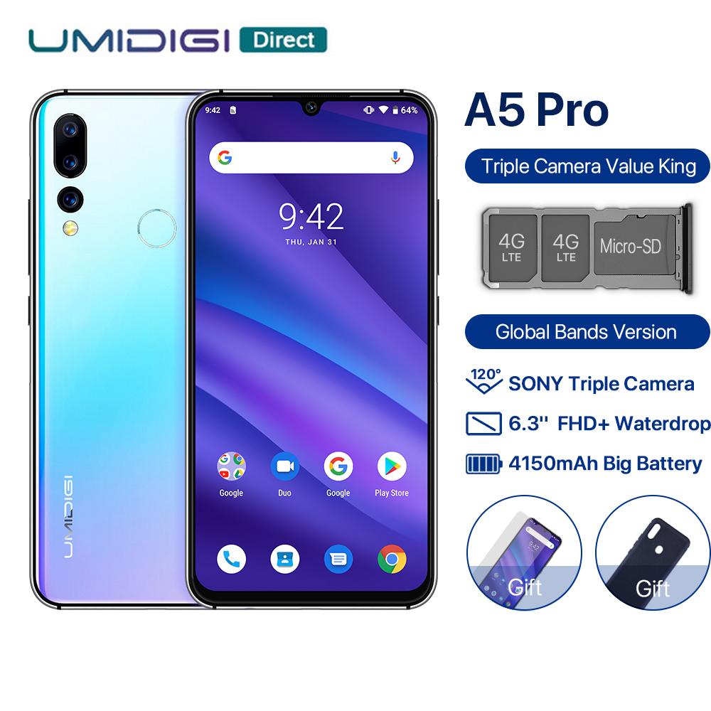 Umidigi A5 Pro 4GB DDR4 /32GB Pamięci Helio p23 B20 sony imx398 Ekran IPS 2K 4150mAh Android 9