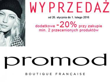 Dodatkowe 20% zniżki na min. 2 przecenione produkty @ Promod