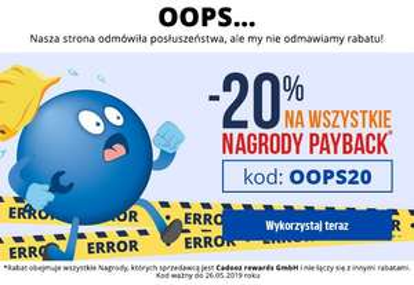 -20% na nagrody PAYBACK