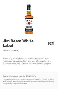 Whisky/Bourbon Jim Beam White Label 0.7l za 19.99zł @Żabka