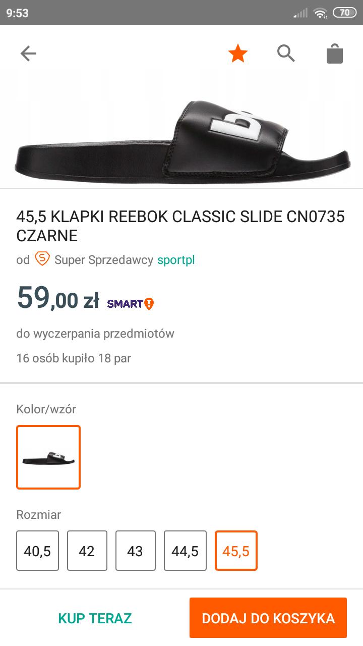 Klapki Reebok Classic