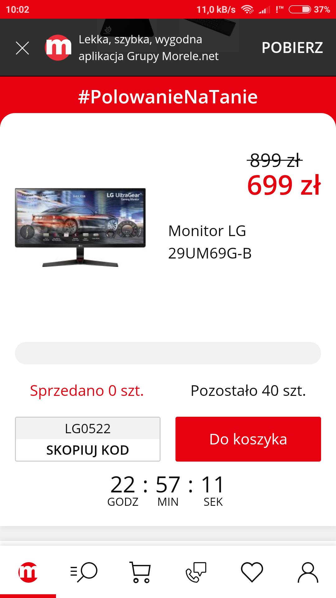 Monitor LG 29UM69G-B