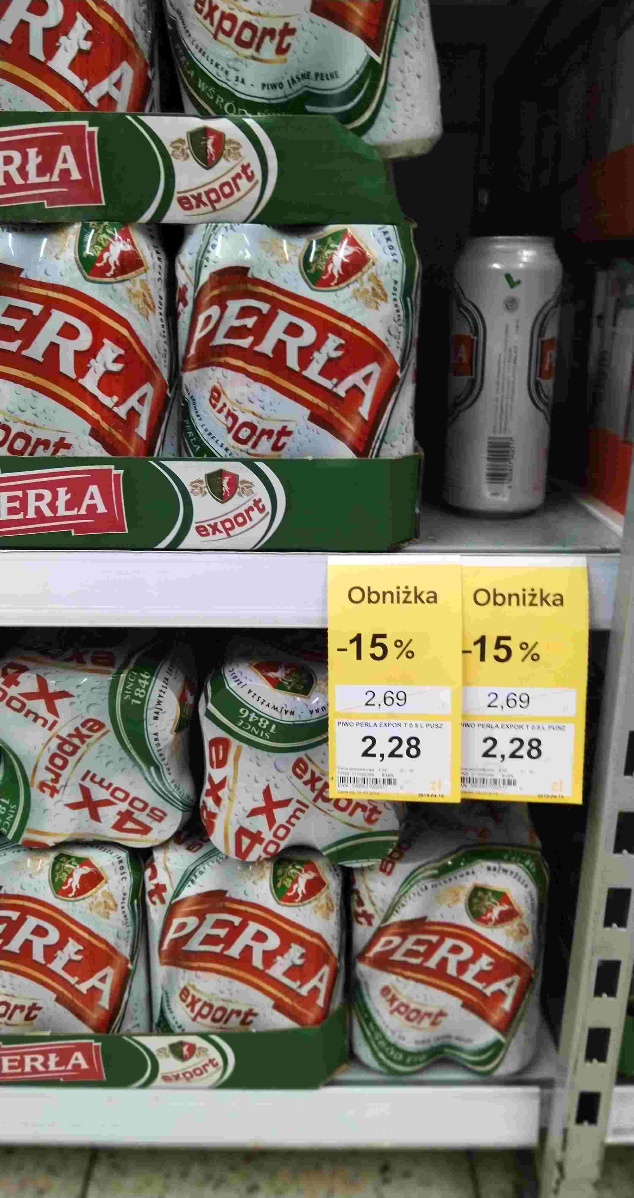 Piwo Perła Export za 1,34zł / puszka 0,5l - błąd cenowy Tesco Gocław Fieldorfa