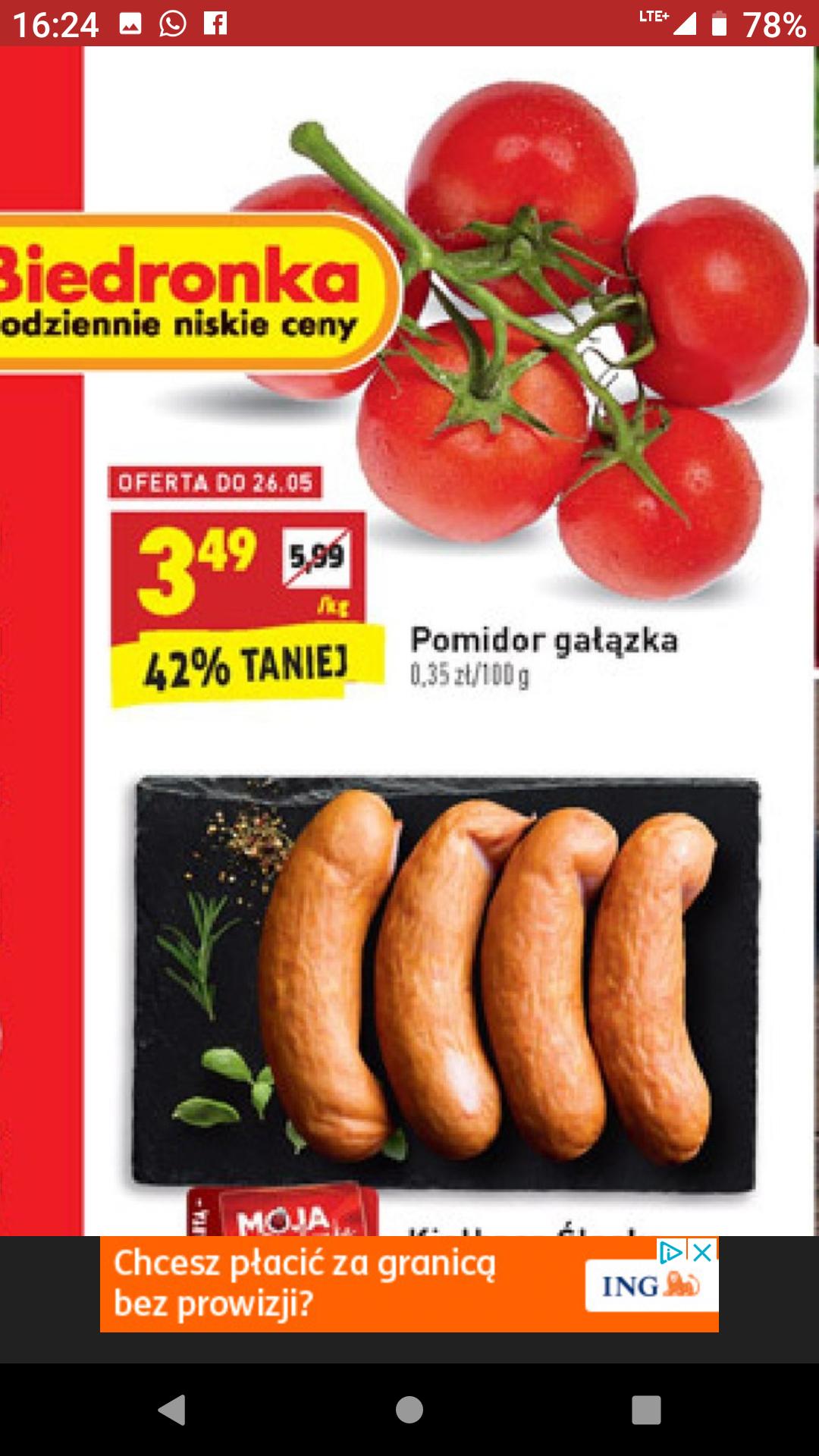 Pomidor gałązka pomidory @ Biedronka